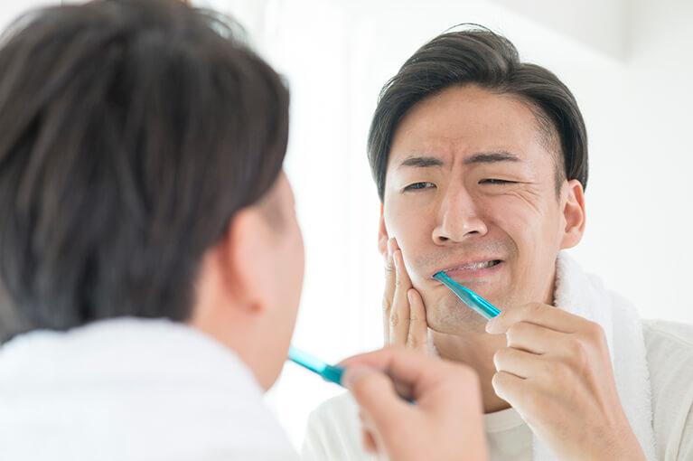 1.歯の磨き残しによるむし歯