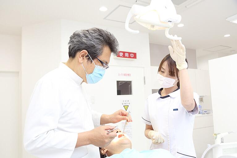府中市の谷保駅にある西原歯科医院の治療および処置内容です。